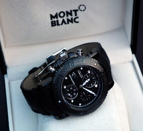 Virtually unworn gents DLC Montblanc Sports chrono