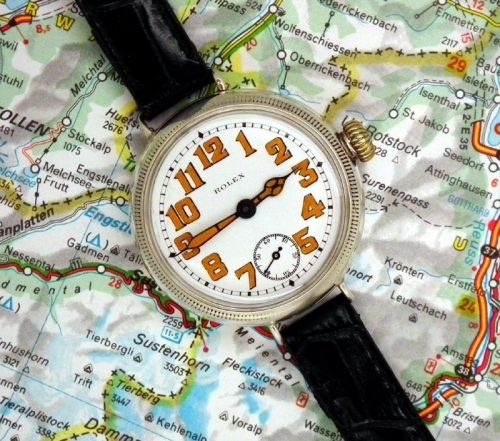Gorgeous 1915 vintage WW1 Rolex Officers watch