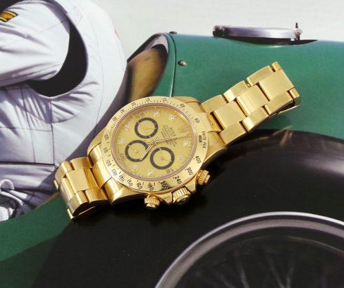 18ct Gold factory diamond Rolex Daytona ref 16528