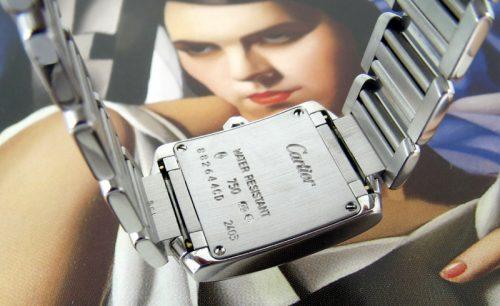 Unworn ladies 18ct Cartier Tank Francaise 45% off list