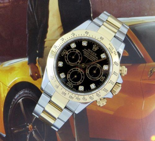 Diamond Steel & Gold Rolex Daytona ref 116523