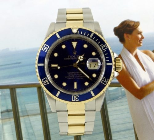 Rolex Submariner steel & gold 'Blue Kit' ref 16613