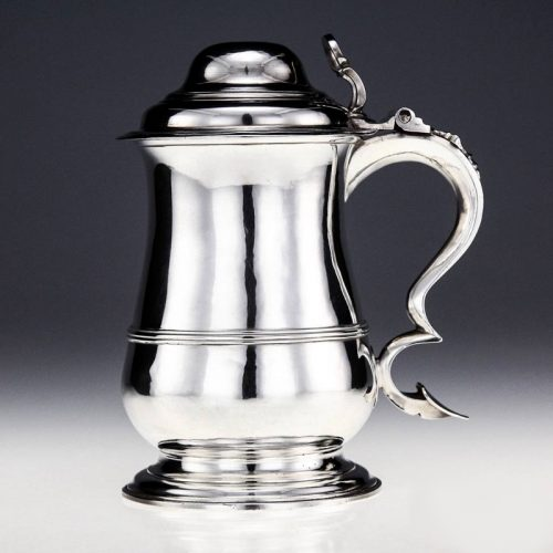 Silver Georgian English made tankard London 1768