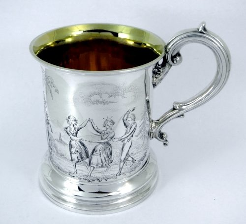 A beautiful London hallmarked silver Victorian cup 1848