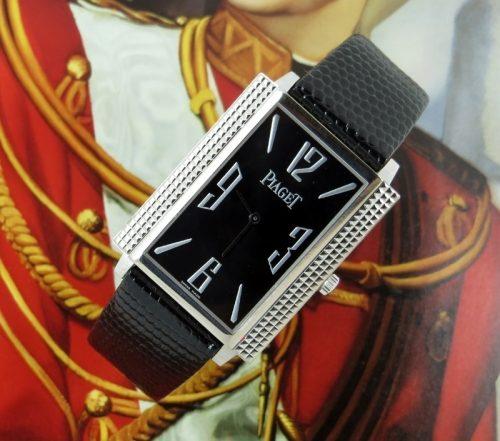 Stunning gents 18ct white gold Piaget 'Black Tie'
