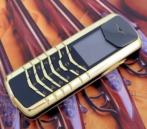 18ct gold Vertu Signature M with case and papers