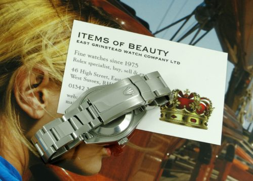 Mint steel mid-size ladies Rolex Datejust with paper