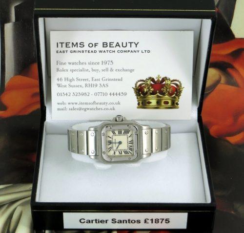 As new steel ladies Cartier Santos 2013 model
