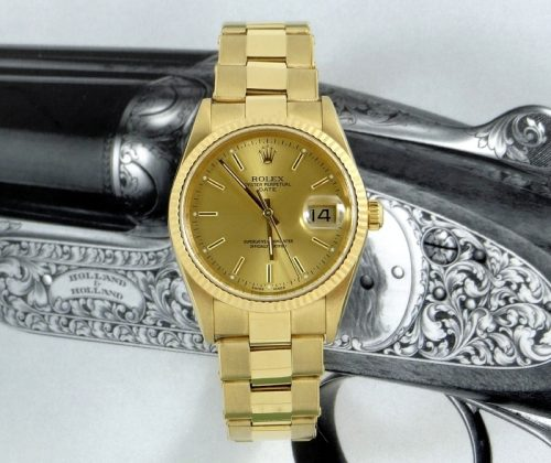 Bargain men's 18ct gold Rolex Oyster Perpetual Date