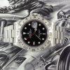 Stainless steel Rolex Explorer II black dial ref 16570