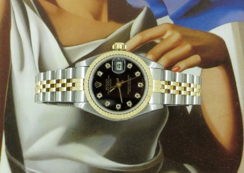 Factory diamond steel & gold ladies Rolex Datejust