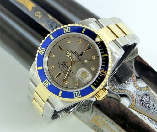 Bi Metal Serti dial Rolex Submariner with paper