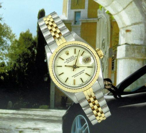 Ladies classic 18ct gold & steel Rolex Datejust