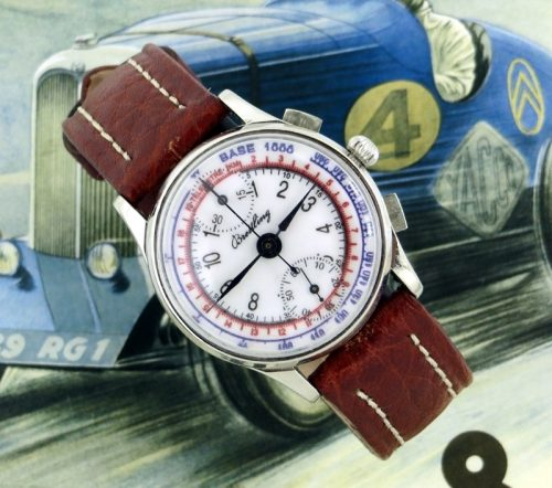 Vintage stainless steel Breitling Chronograph