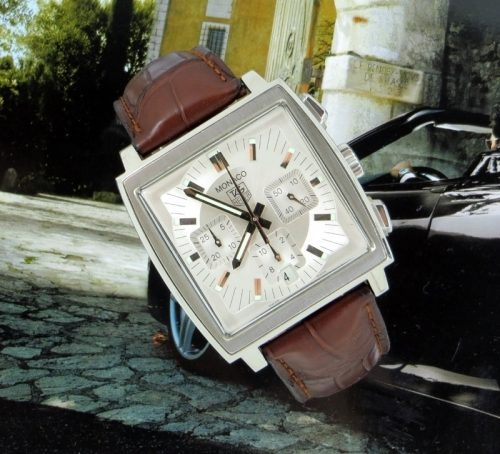 Superb steel Tag Heuer Monaco CW2112 with paper
