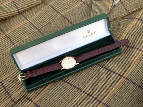 1960's gold men's Rolex Precision with vintage box