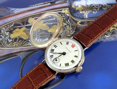 Rare 8 sided Art Deco pink gold vintage Rolex 1929
