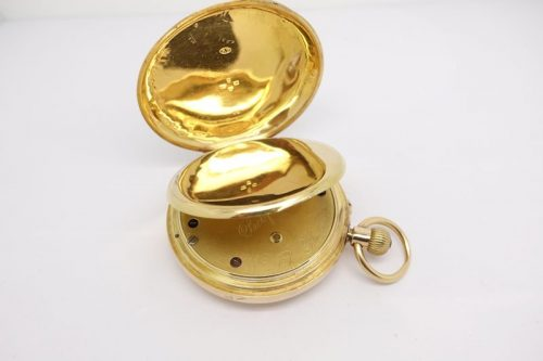 Gents solid 18ct Yellow gold pocket watch