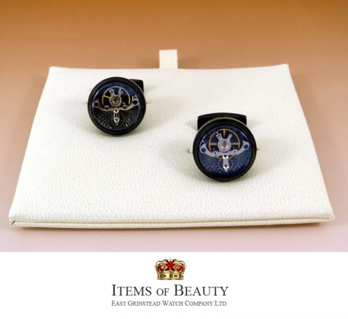 BLACK DLC TOURBILLON CUFFLINKS FOR THE MAN WITH EVERYTHING