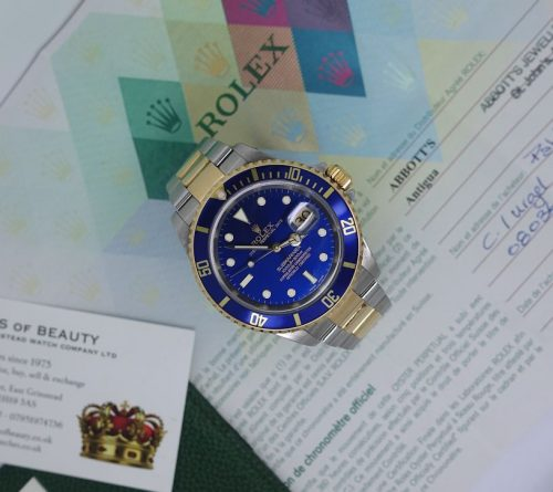 Stainless Steel and 18ct Gold Submariner 'Blue Kit'