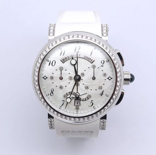 Ladies Diamond set Breguet Marine watch