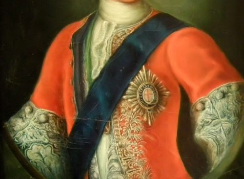 Pair of Oil on Canvas portrait's of Bonnie Prince Charlie