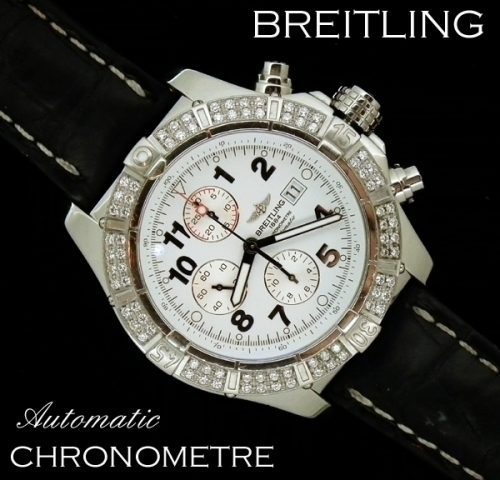 XL Diamond set Breitling auto Chronometre - BARGAIN PRICE