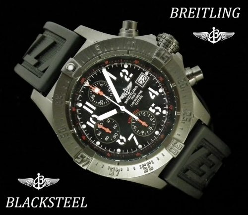 Virtually as new Breitling Skyland Blacksteel M13380