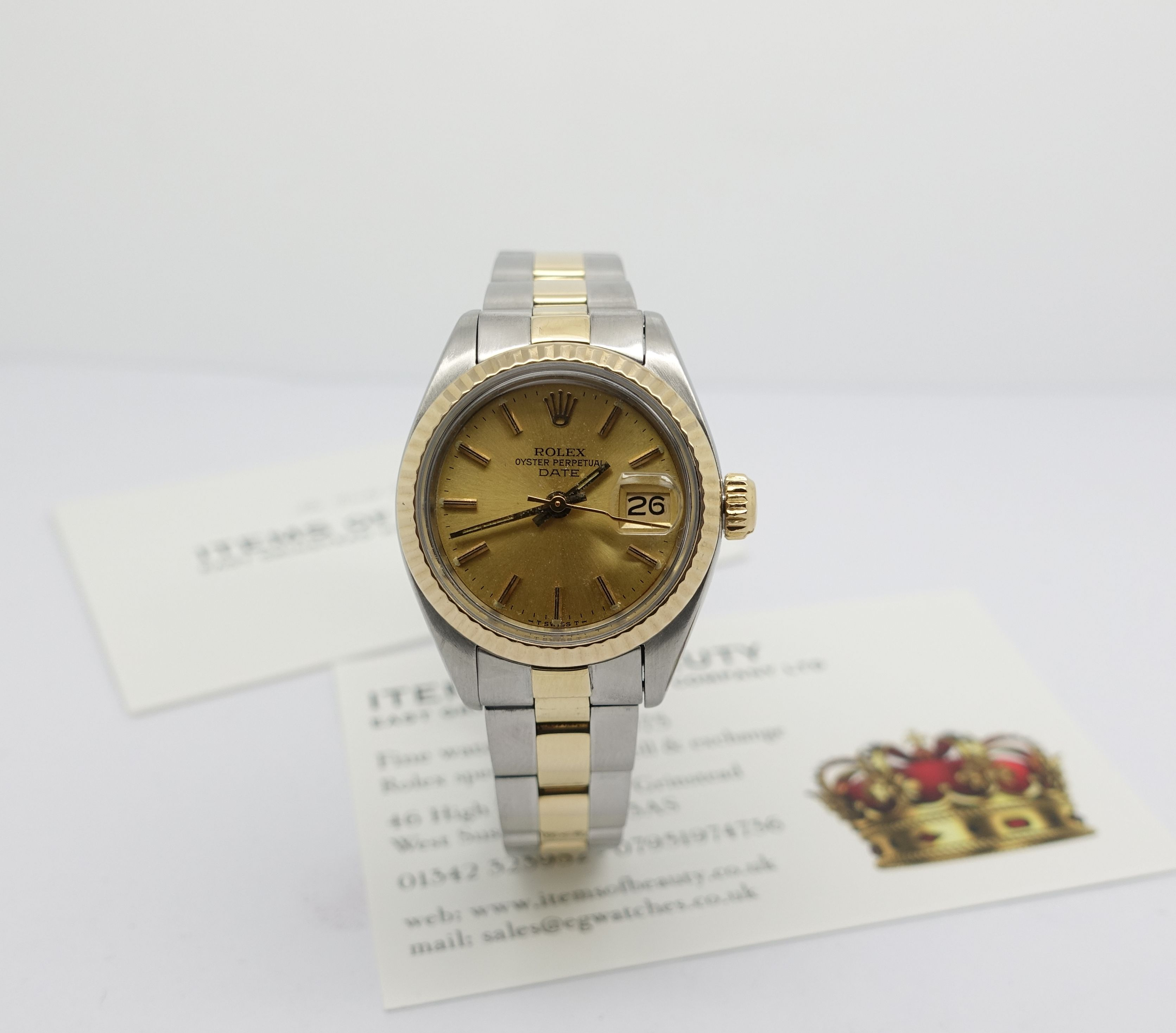 Ladies steel & gold Rolex Oyster Perpetual Date - ITEMS OF ...