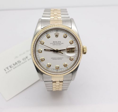 Gents Stainless Steel and 18ct gold Rolex Datejust
