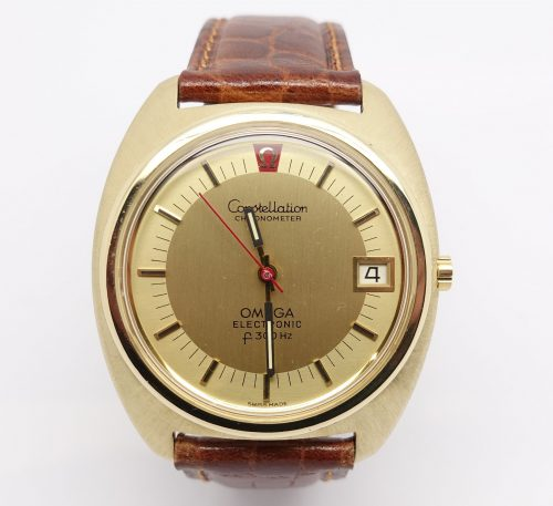 Gents solid 18ct gold Omega Consellation Electronic