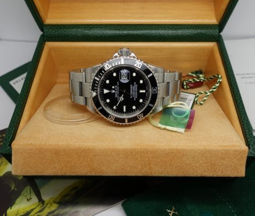 Gents stainless steel Rolex Oyster Perpetual Submariner Date