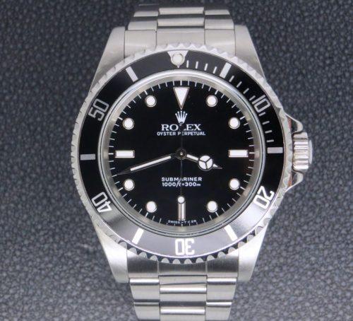 Stainless steel Gents Rolex Submariner Non-date