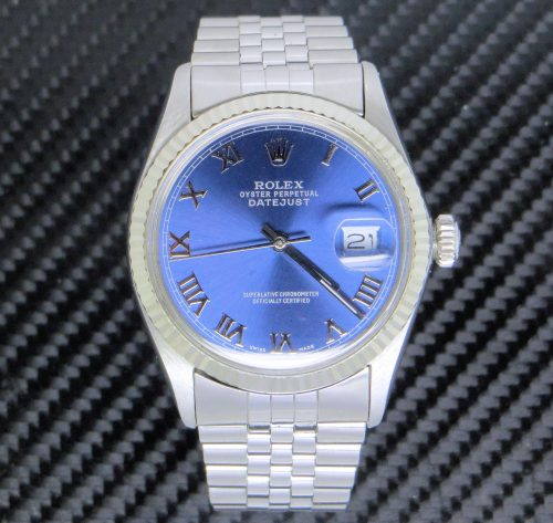 Stainless Steel Rolex Datejust with Custom Dial