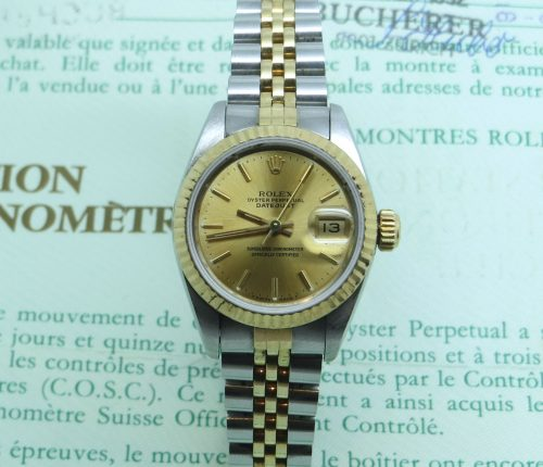 Stainless steel and Gold Ladies Rolex Datejust