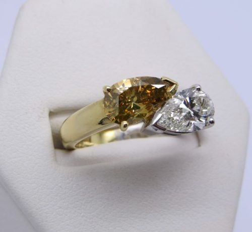 Stunning Two Colour Diamond Ring