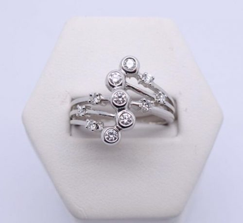 0.50ct Diamond Bubble Ring