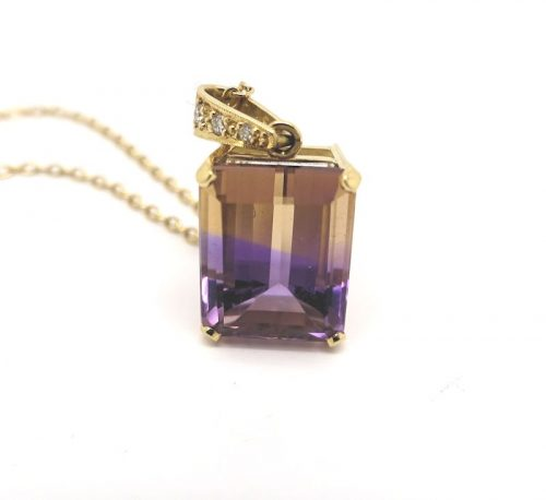 12.95ct Natural Ametrine Pendant