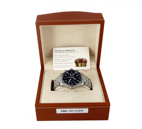 Ebel 1911 Discovery Chronograph box & papers