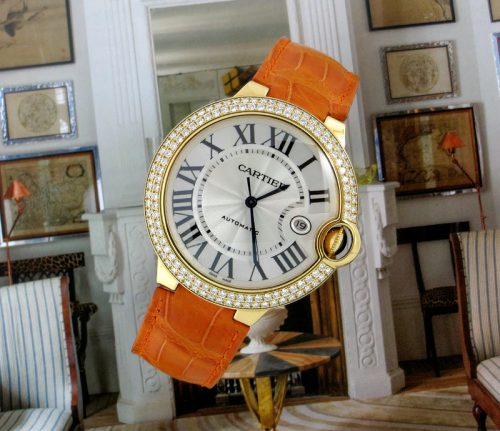 XL 18ct gold diamond Cartier Ballon Bleu