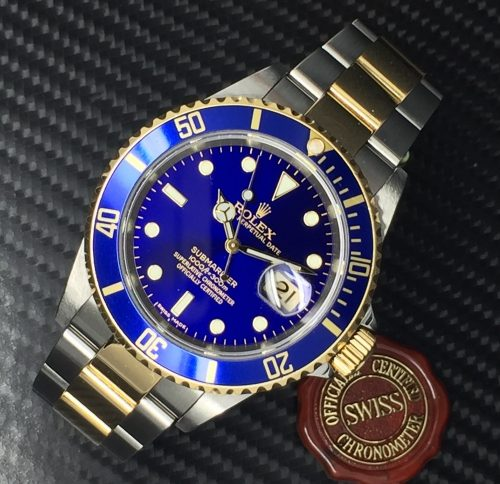 Gents Steel and 18ct Gold Rolex Submariner Blue Kit