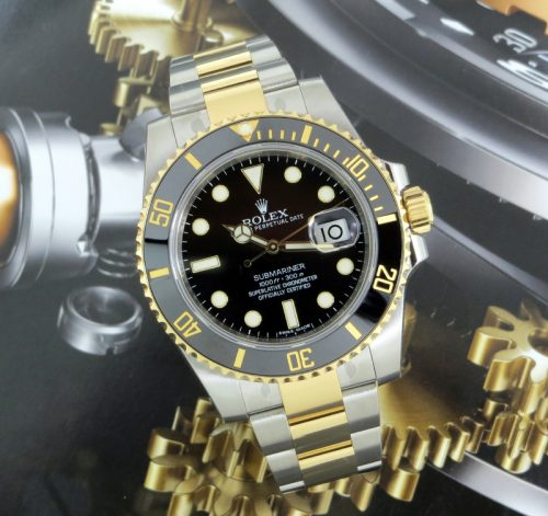 New steel & gold Rolex Submariner date ref 116613LN