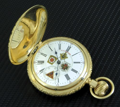 XL 14ct gold US Masonic Waltham pocket watch 1902