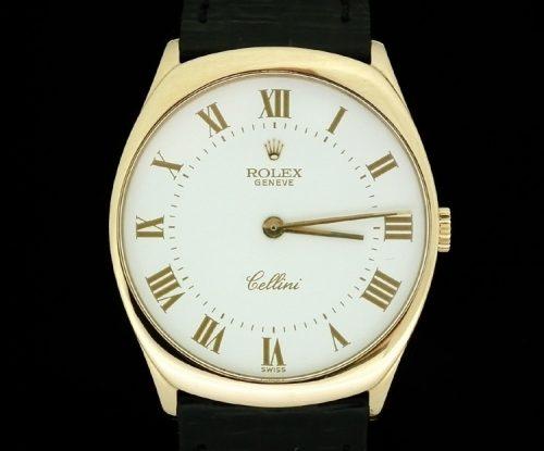 18ct Gold Gents superb classic Rolex Cellini