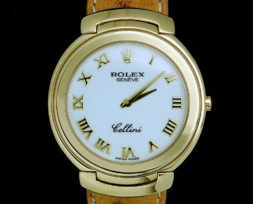 Virtually unworn 18ct Gold Rolex Cellini box & papers