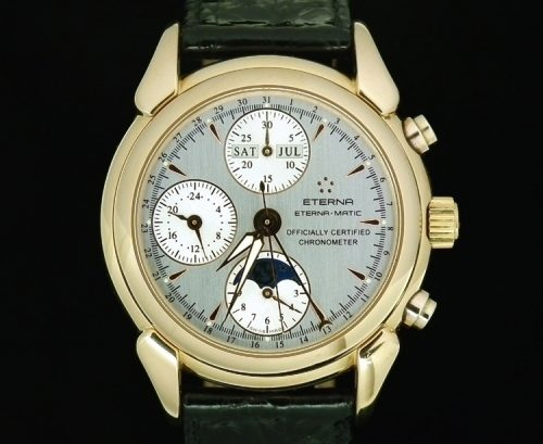 18ct gold Eterna-matic chronograph complication