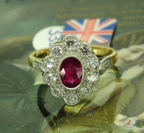 Unworn ruby & diamond ladies ring rrp £2,772