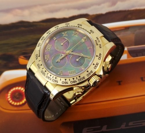 Rare Tahitian dial 18ct Gold Rolex Daytona ref 116518
