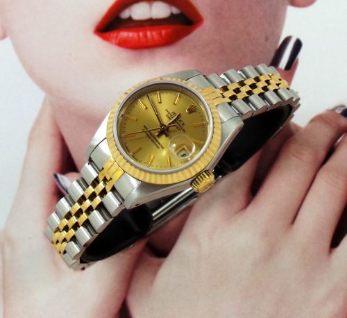 Classic ladies steel & gold Rolex Datejust with papers