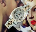 Unworn Ladies pink gold & steel Rolex Datejust